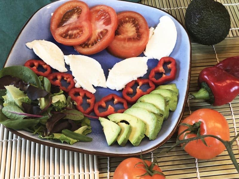 frische Zutaten clean eating