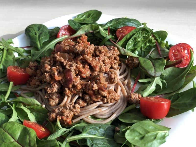 Low Carb und clean eating Gericht